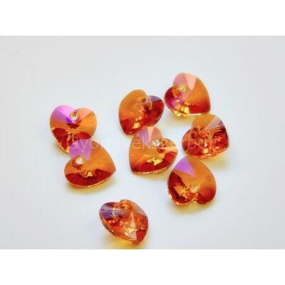 SWAROVSKI xilion crystal astral pink szív 10.3x10 mm