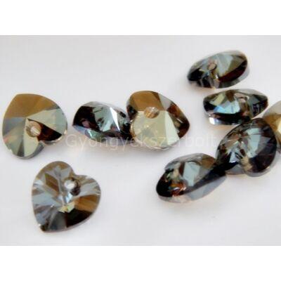 SWAROVSKI xilion crystal bronze shade szív 10.3x10 mm