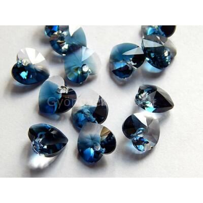 SWAROVSKI xilion crystal montana blend szív 10.3x10 mm