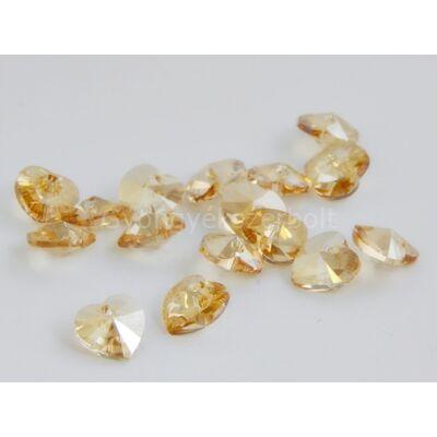 SWAROVSKI xilion crystal golden shadow szív 10.3x10 mm