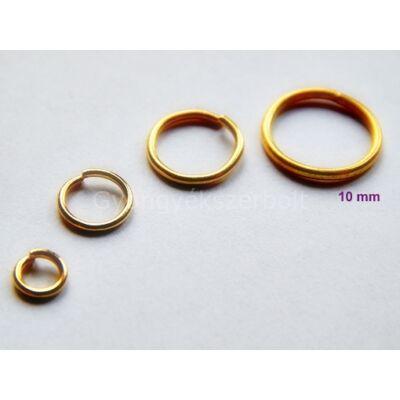 100 db arany szerelőkarika 10mm