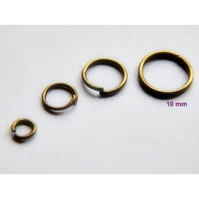 100 db bronz szerelőkarika 10mm
