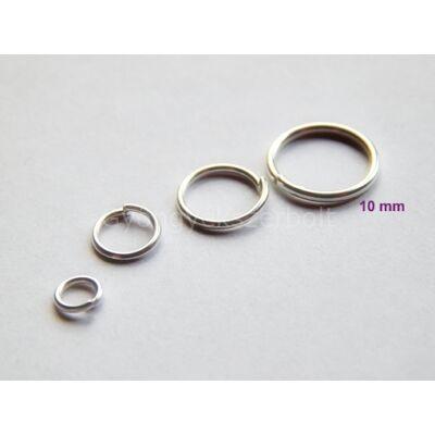 100 db ezüst szerelőkarika 10mm