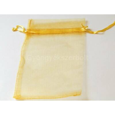 Mustár organza tasak 10x15 cm