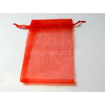 Piros organza tasak 10x15 cm