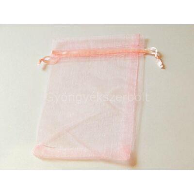 Rózsaszín organza tasak 10x15 cm