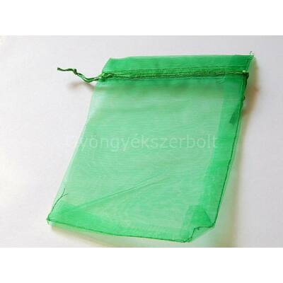 Zöld organza tasak 10x15 cm