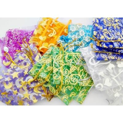 Mix organza tasak 7x8 mm