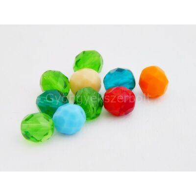 Mix CSEH csiszolt gömb üveggyöngy 8 mm