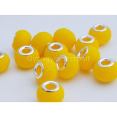 Méz gumírozott PANDORA üveggyöngy - II. osztályú