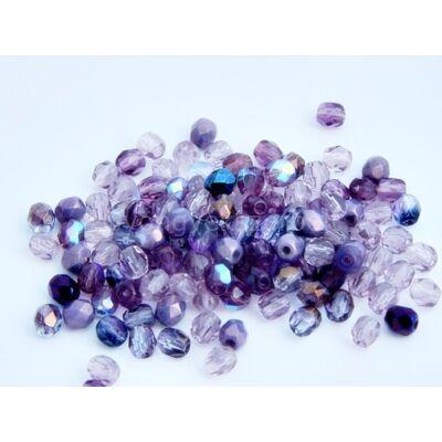 Purple dream CSEH gömb üveggyöngy mix 4mm