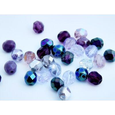 Purple dream CSEH gömb üveggyöngy mix 6mm