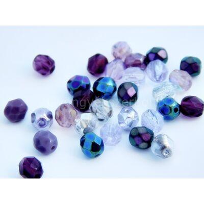 Purple dream CSEH gömb üveggyöngy mix 8mm
