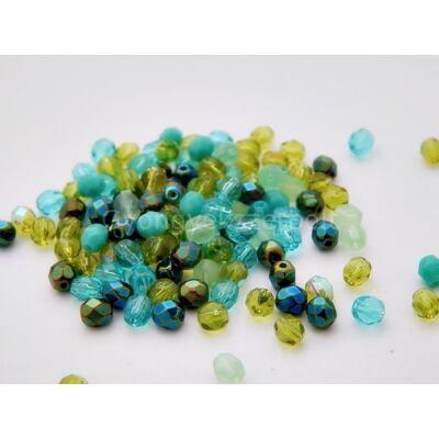 Spring CSEH gömb üveggyöngy mix 4mm