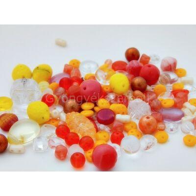 Üde narancs CSEH forma üveggyöngy mix