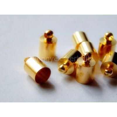 Arany ragasztható zsinór végzáró 10x6