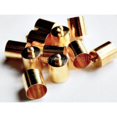 Arany ragasztható zsinór végzáró 14x10