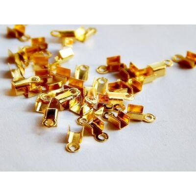 20 db arany zsinór végzáró 6x3 mm