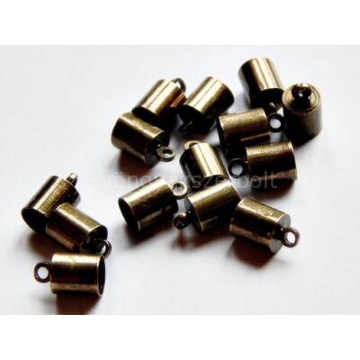 Bronz ragasztható zsinór végzáró 10x6
