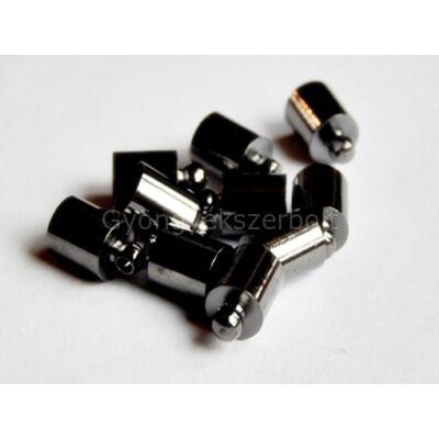 Fekete ragasztható zsinór végzáró 10x6