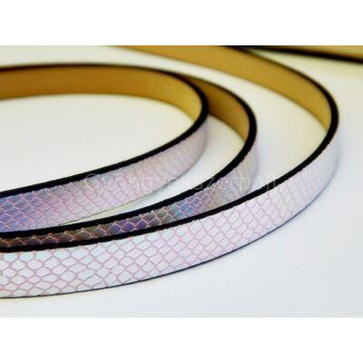 Pink kígyó mintás műbőr szíj 10 mm