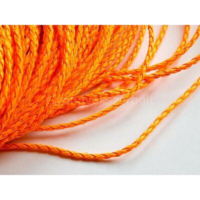 Narancs fonott műbőr zsinór 3 mm