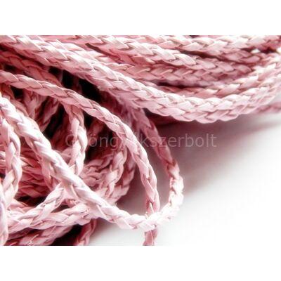 Rózsaszín fonott műbőr zsinór 3 mm