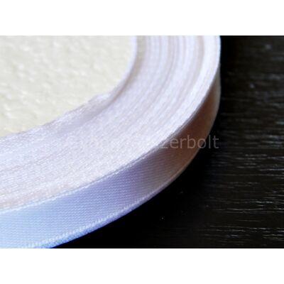 Fehér szatén szalag 6 mm