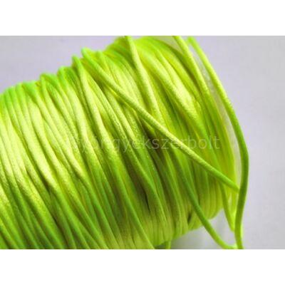Neonsárga szatén zsinór 1 mm