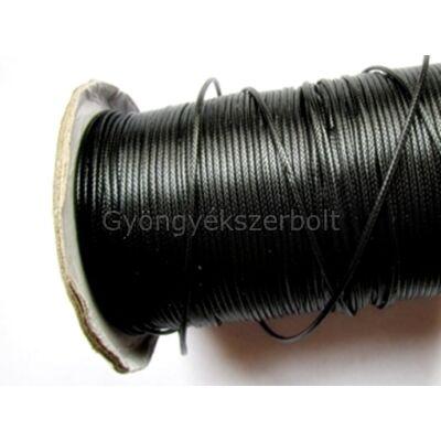 Fekete viaszolt poliészter zsinór 0,8 mm