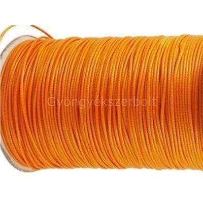 Narancs viaszolt poliészter zsinór 1 mm
