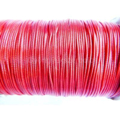 Piros viaszolt poliészter zsinór 0,5 mm - 10 méter